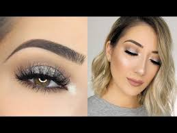 soft sparkly silver smokey eye makeup