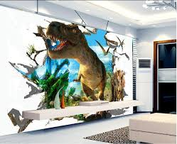 3d Wallpaper Custom Mural Non Woven Wall Stickers 3 D Jurassic Dinosaurs Background Wall Painting Photo 3d Wall Mural Wallpaper Wallpapers Aliexpress