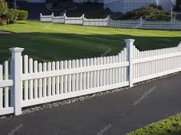 White Picket Fence Stock Photo C Sonar 81030362