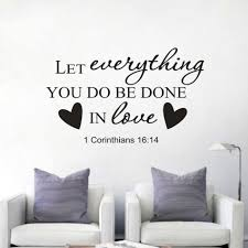 Christian Quotes Wall Decal Creative Decor For Home Religion Vinyl Culture Wall Stickers Bible Verse Wall Art Sticker Az077 Wall Stickers Aliexpress