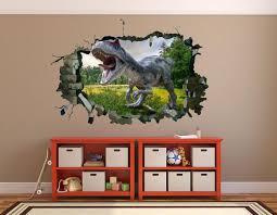 Jurassic Park 3d Wall Decal Jurassic Park Vinyl Sticker Etsy