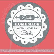 Personalized Vinyl Decal Sticker Stencil For Etching On Glass Homemade With Love Circle