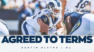 Austin Blythe, Los Angeles Rams agree to terms on one-year deal