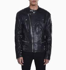 deadwood leather ryder jacket black