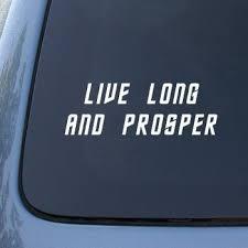 Live Long Prosper Star Trek Spock Vulcan Car Truck Notebook Vinyl Decal Sticker 2239 Vinyl Color White Wish