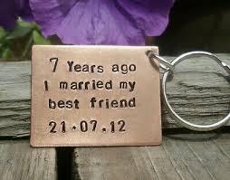 copper gift husband wife keychain