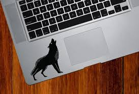 The Decal Store Com By Yadda Yadda Design Co Clr Mb Wolf Howling Macbook Laptop Trackpad Tablet Vinyl Dec