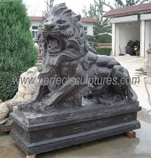 life size stone marble lion statues