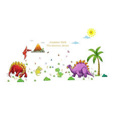 Shop Dormitory Pvc Dinosaur Print Window Wall Removable Sticker Decal Wallpaper 2pcs On Sale Overstock 28874807