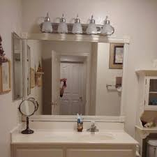 easy way to frame a bathroom mirror for