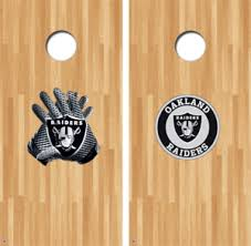Nfl Cornhole Decals Buy 2 Get 1 Free Tagged Oakland Raiders Decal Gamedaydecals