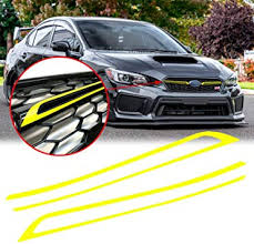 Amazon Com Xotic Tech Exterior Front Grille Middle Jdm Style Pinstripe Vinyl Decal Overlay Wrap Trim Fluorescent Yellow For Car Front Bumper Sticker Compatible With Subaru Wrx Sti 2018 2019 2020 Arts Crafts