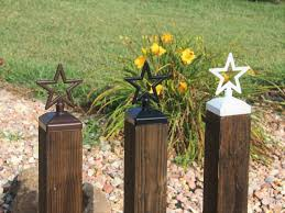 Star Fence Post Cap Decorative Star For 4x4 Deck And Fence Etsy