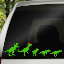 Family Car Decal Dinosaur Car Sticker Car Window Decal Car Etsy