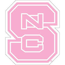 Nc State Wolfpack Pink Block S Vinyl Decal Red And White Shop