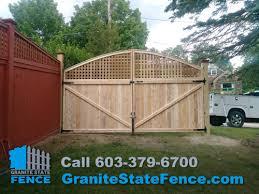 Cedar Wood Fencing Custom Fence Gate In Derry Nh Granite State Fence
