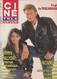 Ciné revue no. 9 03/1990 johnny hallyday adeline turner & hooch tom hanks |  eBay