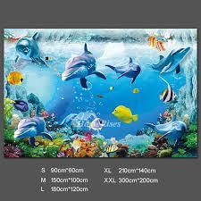 3d Wall Stickers Ocean Decal Shark Decorative Pvc Home Decor