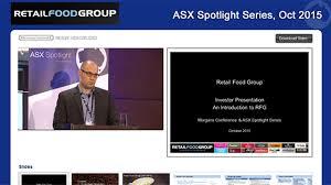 Retail Food Group: ASX Spotlight Series Hong Kong | Finance News Network