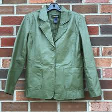 green leather jacket size 12p