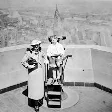 Empire State Building Observation Deck Before The Safety Fence 1935 Photographer Unknown Nyc Skyline Empire State Building Empire State