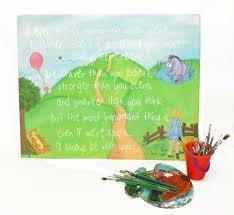 Classic Pooh Nursery Wall Art Original Painting By Kristine Stclair Artmajeur