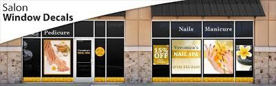 Salon Window Decals Nail Window Decals Window Decals Decals Salon Design