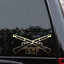 Infantry Crossed Rifles Decal Sticker Army Military Car Truck Window Laptop Ebay