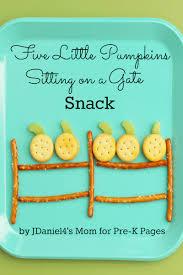 Five Little Pumpkins Snack Activity