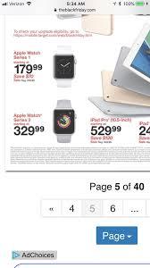 Black Friday Apple Watch sale @ Target : AppleWatch