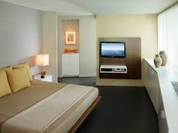 master bedroom with custom bed media