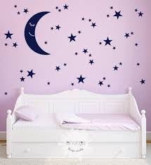 Moon And Stars Wall Decal Star Wall Sticker Kids Room Etsy