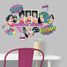 Roommates Wonder Woman Pop Art Peel And Stick Wall Decals Amazon Com