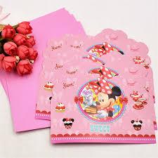 6 Unids Bolsa Disney Minnie Mouse Partido Suministros Tarjeta De