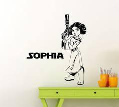 Custom Name Star Wars Wall Decal Princess Leia Personalized Vinyl Sticker 45sw Ebay