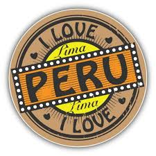 I Love Lima City Peru Stamp Car Bumper Sticker Decal Peru Car Bumper Stickers Car Bumper
