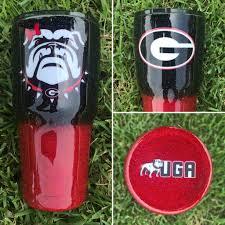 Uga Bulldogs Glitter Tumbler Crafty Creations By Amber Nissen Tumbler Cups Diy Glitter Tumbler Cups Glitter Tumbler