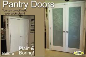 frosted glass pantry doors can be