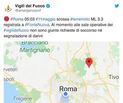 Forte scossa di terremoto a Roma. Tanta paura, ma nessun danno ...