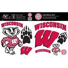 Skinit Wisconsin Badgers Car Decal Kit Walmart Com Walmart Com