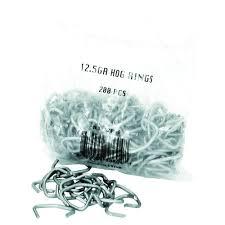 Yardgard 12 5 Gauge Chain Link Hog Rings 200 Pack 328604c The Home Depot Chain Link Chain Link Fence Hog
