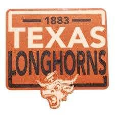 Texas Longhorns 1883 Vault Rectangle Decal University Co Op