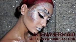 futuristic halloween makeup look