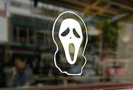 Scream Ghostface Red Hologram Decal Sticker Devil Halloween Car Sticker 95f