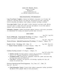 Jaclyn West, Ph.D. Resume