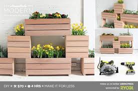 homemade modern ep60 stackable planters
