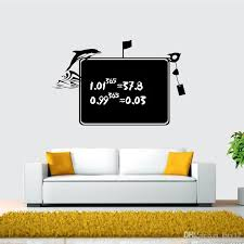 Black Chalk Dolphin Blackboard Removable Vinyl Wall Sticker Home Bedroom Office Kids Room Decal Chalkboard Wall Decor Decals Wall Decor Sticker From Kity12 5 43 Dhgate Com