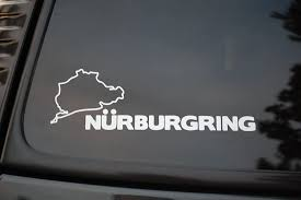 Amazon Com Nurburgring Race Track Sticker Vinyl Decal Choose Color Germany Motorsports Bmw Audi Jdm V99 White Arts Crafts Sewing