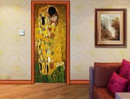 Gustav Klimt The Kiss Door Wrap Decal Wall Sticker Mural Personalized Name D121 Ebay