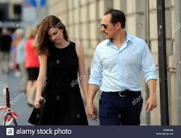 Milan, Stefano Accorsi and wife Bianca Vitali in a shopping center Stefano  Accorsi and his wife Bianca Vitali caught walking through the downtown  streets. Here they are in via Montenapoleone going to